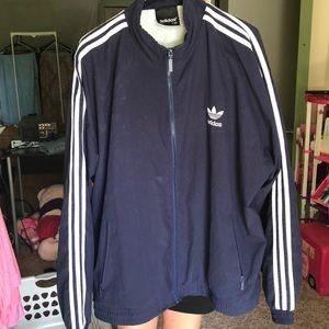 Men's large navy blue adidas jacket